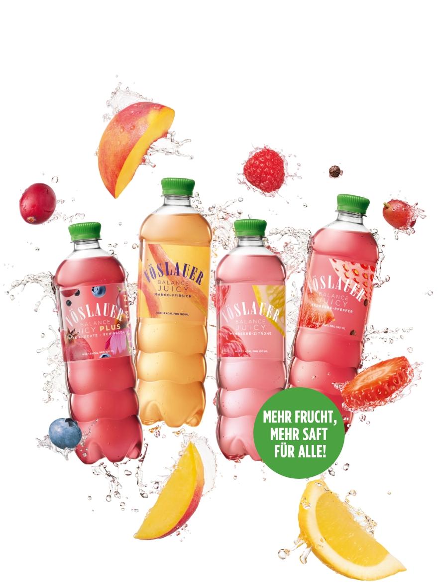 Vöslauer Balance Juicy - Mehr Frucht, mehr Saft für alle!